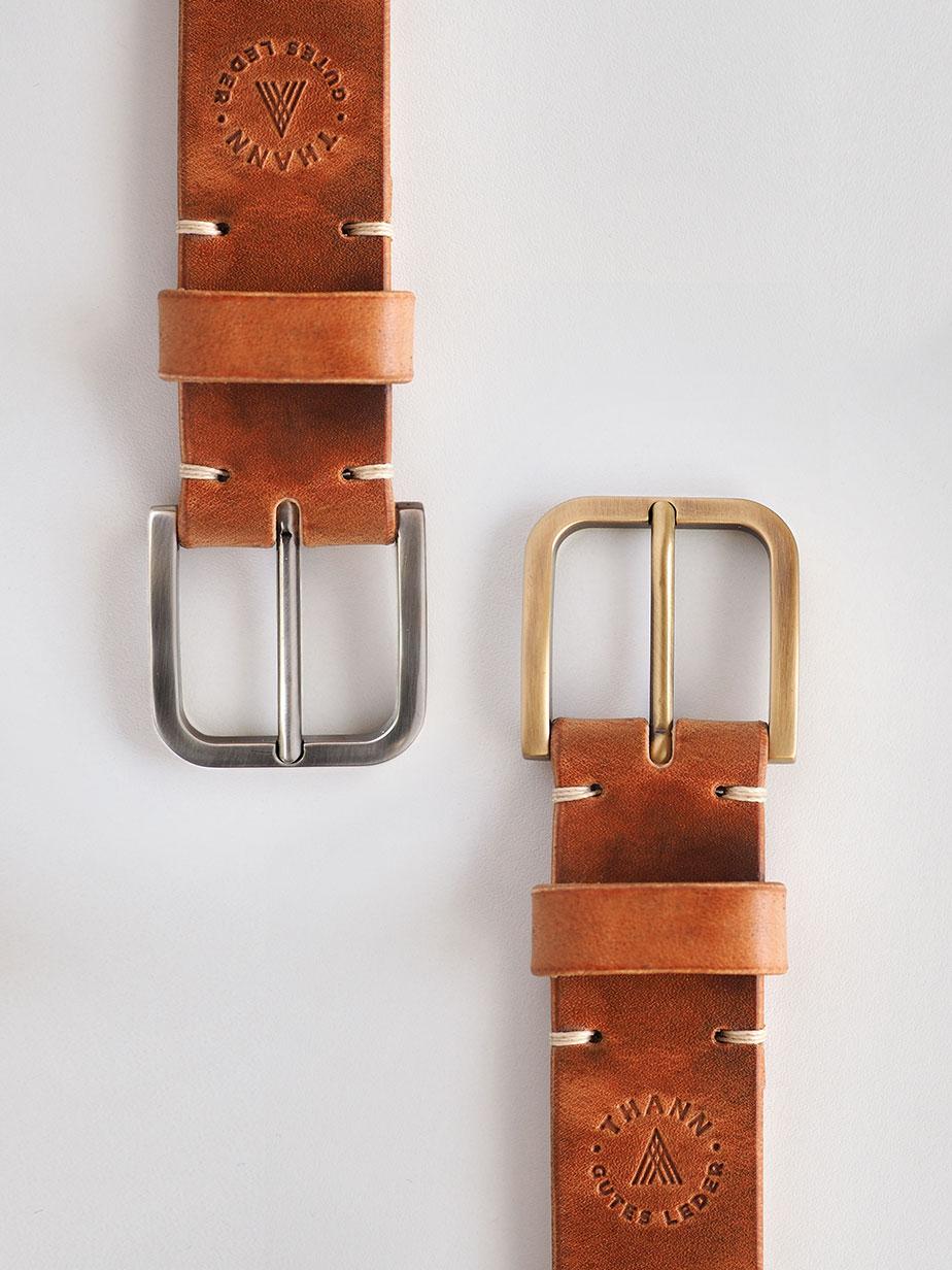 Gürtel 35mm bienenwachs vegtan Solid Brass Buckle